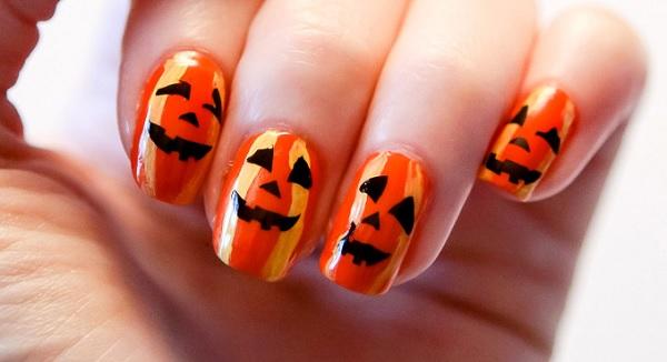 tutorial nail art zucca halloween